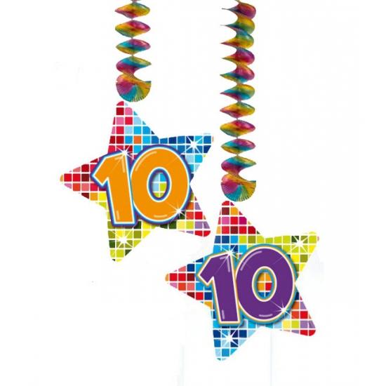 Hangdecoratie sterren 10 jaar