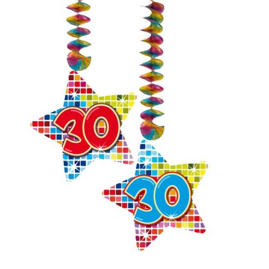 Hangdecoratie sterren 30 jaar
