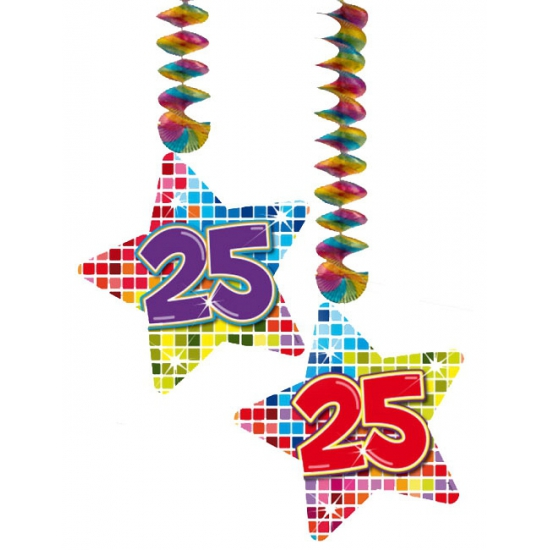 Hangdecoratie verjaardag 25 jaar