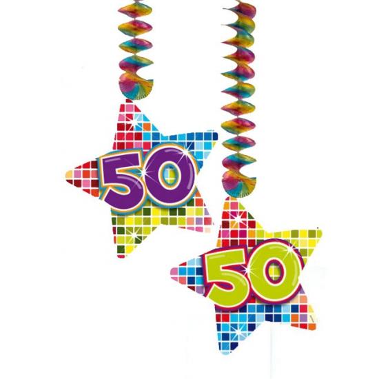 Hangversiering 50 jaar 2 stuks