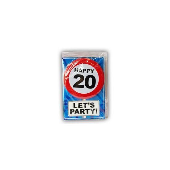 Happy Birthday leeftijd kaart 20 jaar