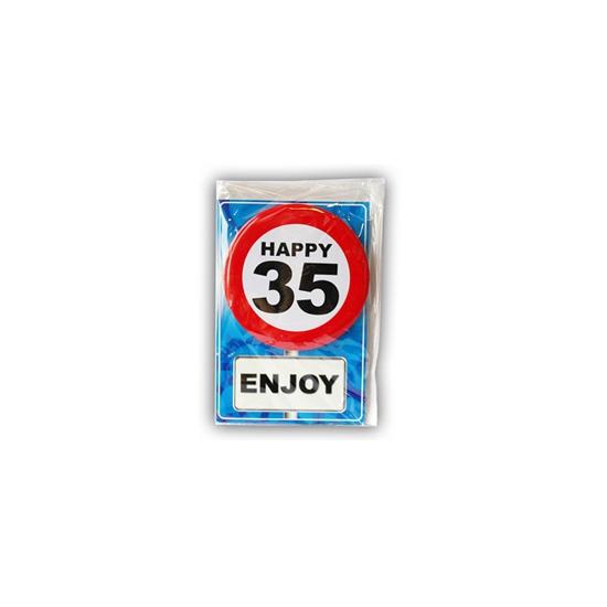 Happy Birthday leeftijd kaart 35 jaar