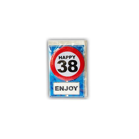 Happy Birthday leeftijd kaart 38 jaar