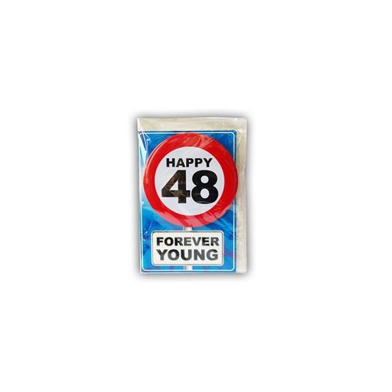 Happy Birthday leeftijd kaart 48 jaar