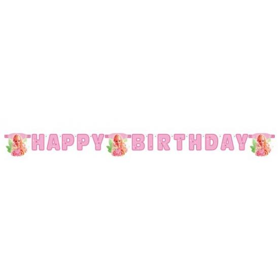 Happy Birthday slinger van Barbie 2, 15 meter