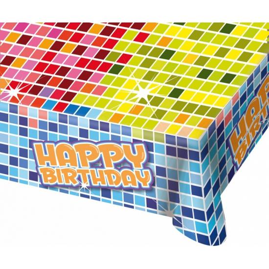 Happy birthday tafelkleed 130x80 cm
