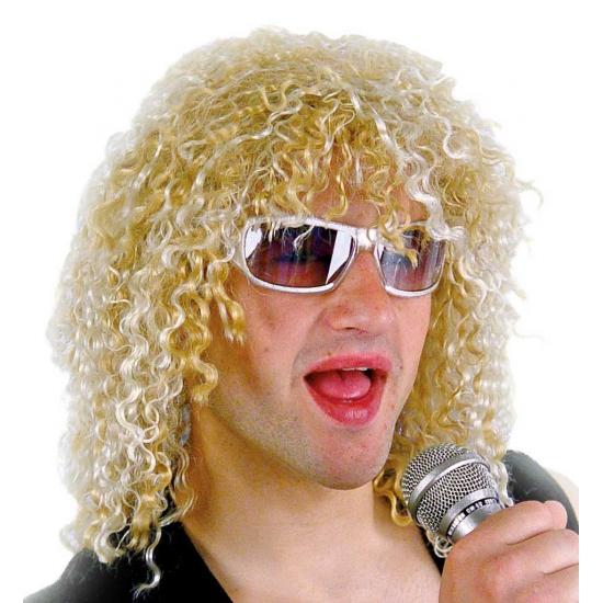 Hardrockers herenpruik blond