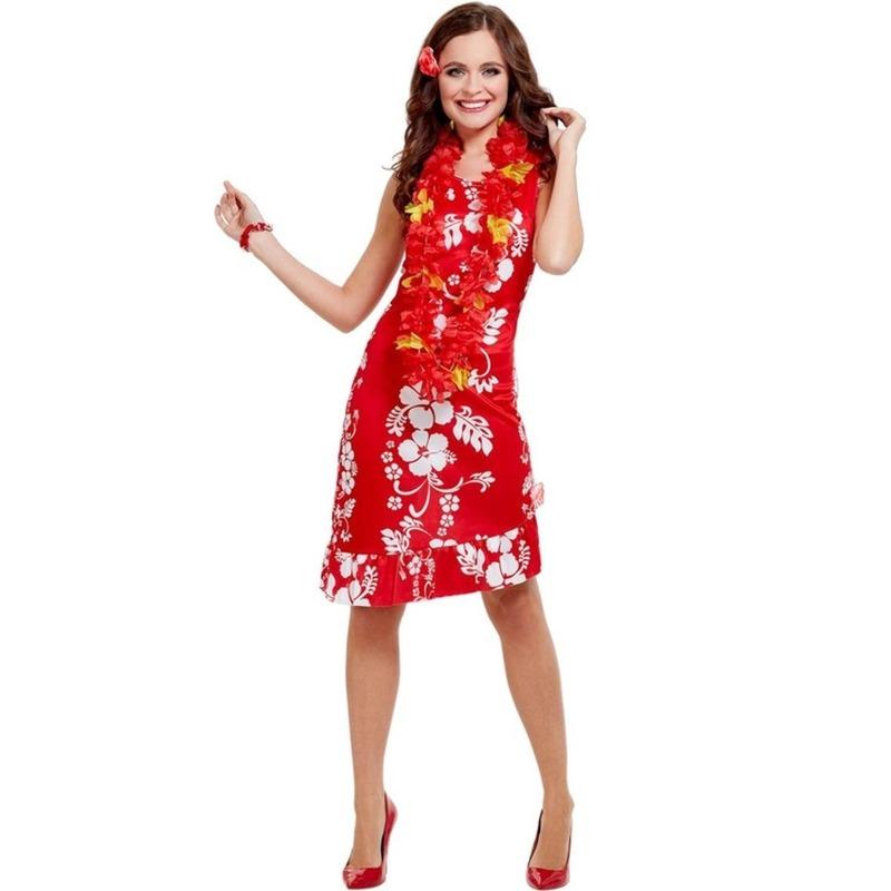 Hawaii kleding dames jurkje rood