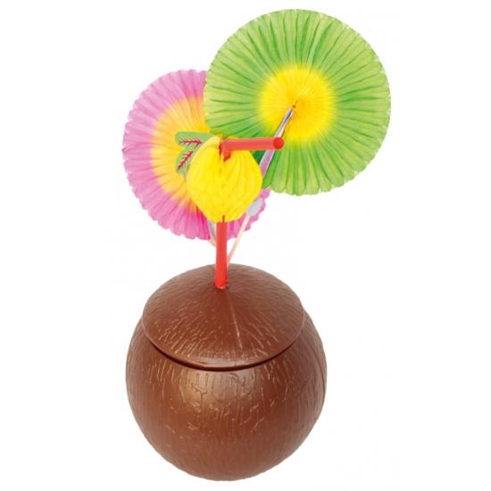 Hawaii party bekers in kokosnoot vorm