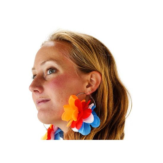 Hawaiibloem oorbellen Holland