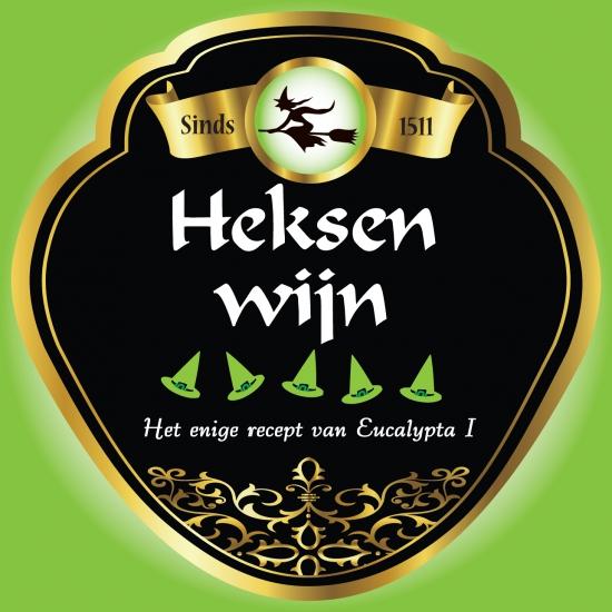 Heksen thema wijn fles etiketten