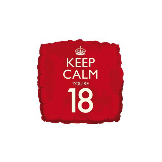 Helium ballon keep calm you are 18