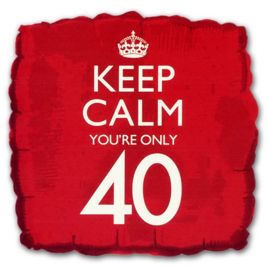 Helium ballon keep calm you are 40