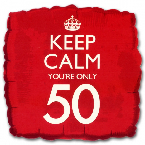 Helium ballon keep calm you are 50
