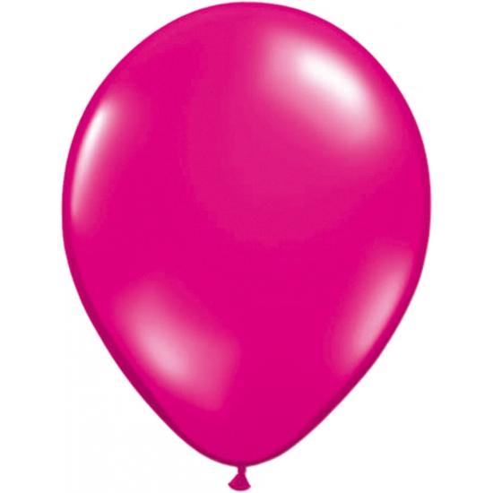 Helium ballonnen magenta 50 stuks