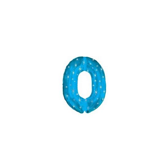 Helium cijfer ballon blauw 0