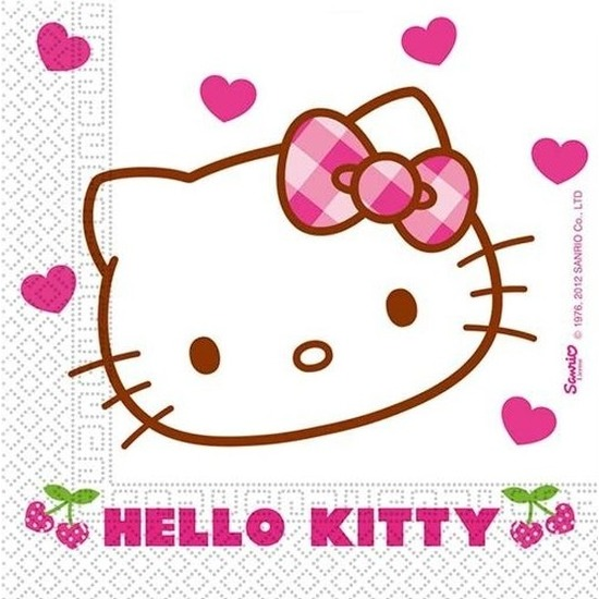 Hello Kitty servetten 33 x 33 cm