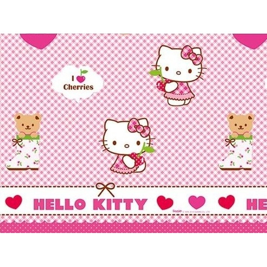 Hello Kitty tafelkleed van plastic
