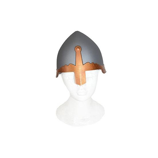Helm ridder grijs plastic
