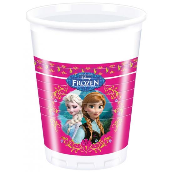 Herbruikbare bekers met plaatjes van Frozen 8 stuks
