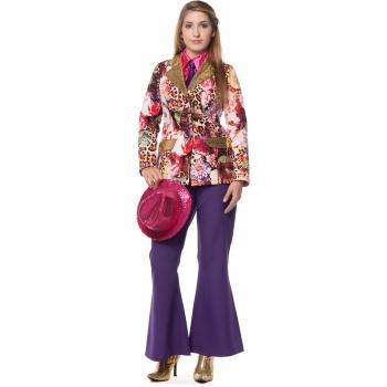 Hippie broek paarse voor dames