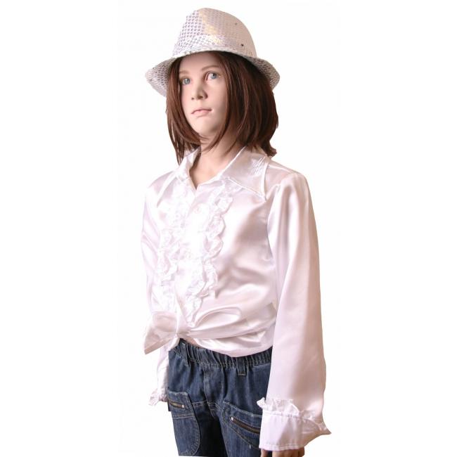 Hippie rouche blouse meisjes wit