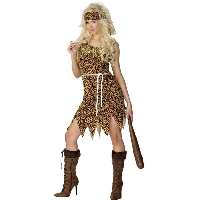 Holbewoner kostuum voor dames