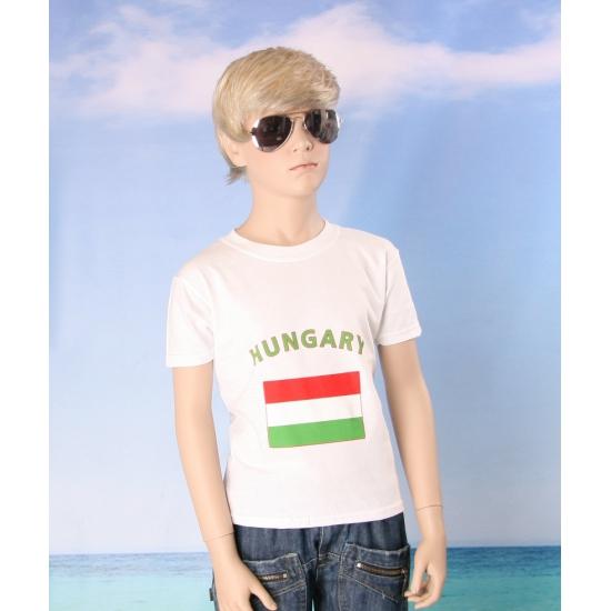 Hongaars vlaggen t shirt voor kinderen