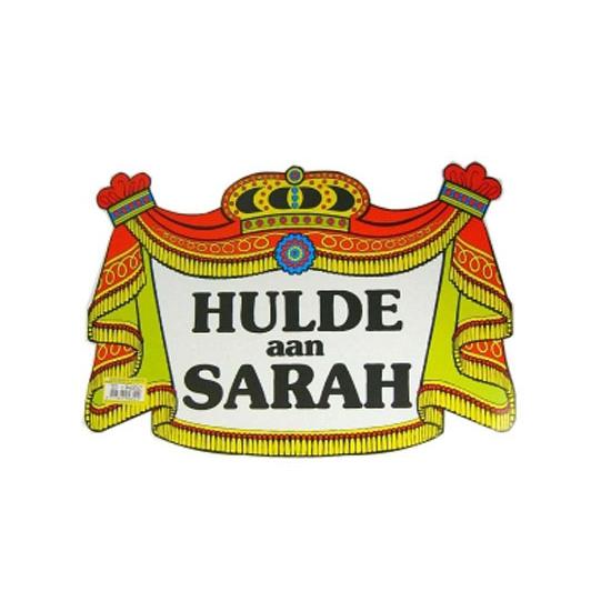 Huldebord voor Sarah 50 jaar