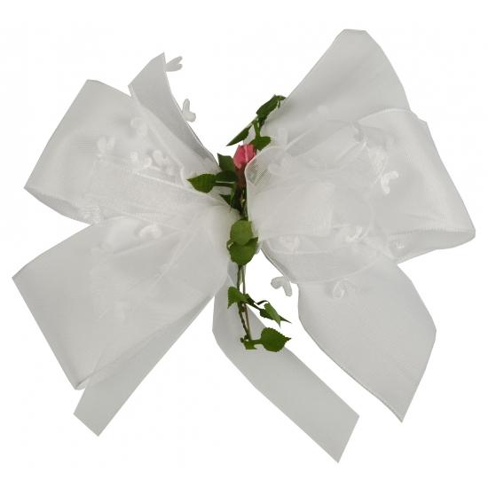 Huwelijk decoratie strik wit