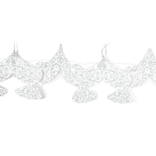 Huwelijk slinger met duifjes 6 meter
