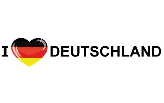 I Love Deutschland stickers