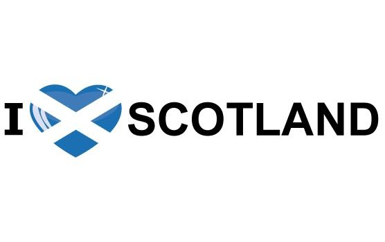 I Love Scotland stickers