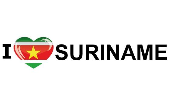 I Love Suriname stickers