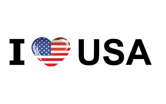 I Love USA stickers