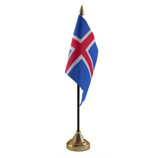 IJslandse tafelvlag met standaard