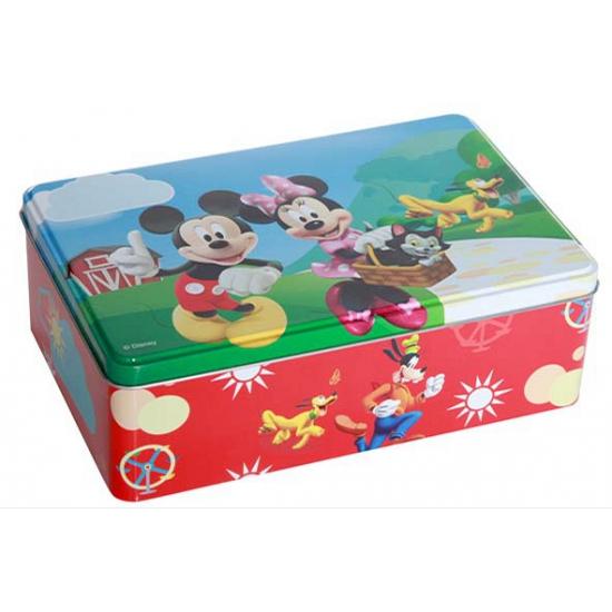 IJzeren Mickey en Minnie Mouse snoeptrommel