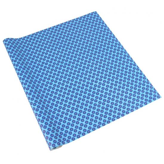 Inpakpapier blauw met patroon