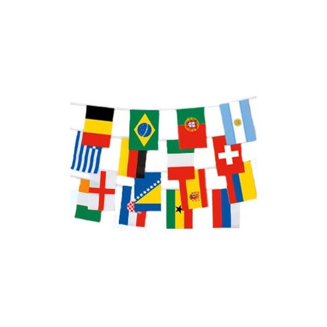 Internationale landen vlaggenlijn 9 meter