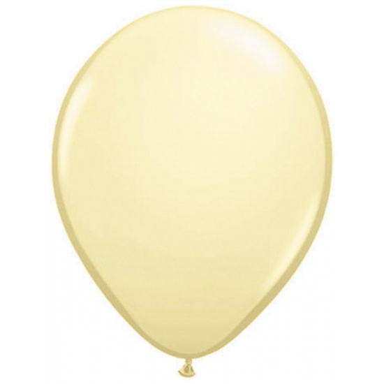 Ivoor kleurige ballonnen 50 stuks