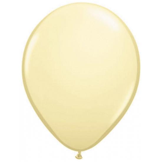 Ivoor kleurige helium ballonnen 50 stuks
