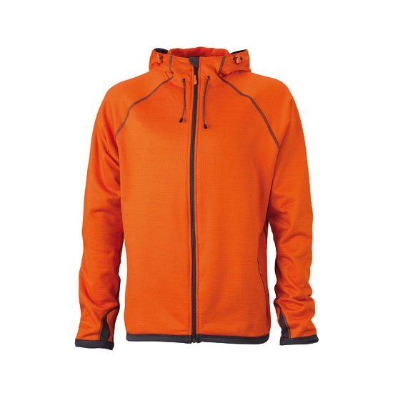 James  amp  Nicholson fleece vest oranje voor heren