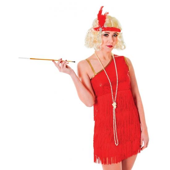 Jaren 20 verkleedkleding rood jurkje