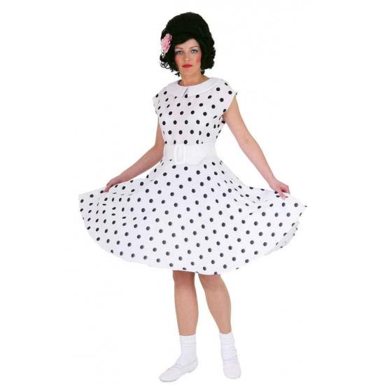 Jaren 50 rock n roll jurk wit zwart