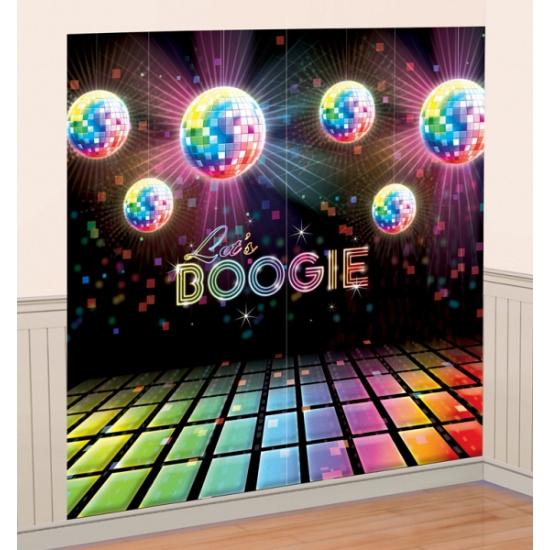 Jaren 70 boogie decoratie 165 x 82 cm
