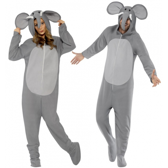 Jumpsuit olifant all in one voor volwassenen