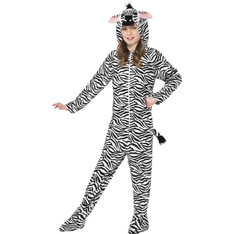 Jumpsuit zebra all in one voor kinderen