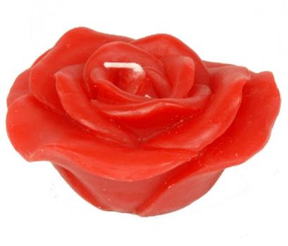 Kaars in de vorm van een rode roos