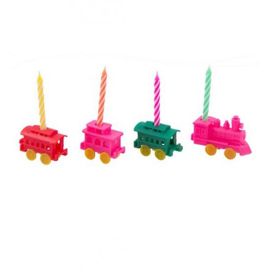 Kaarsenset trein vorm 4 stuks