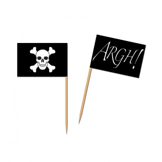 Kaasvlaggetjes piraten 50 stuks